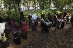 Muslimanët në Arakan vazhdojnë të lëshojnë shtëpitë e tyre (FOTO/VIDEO)